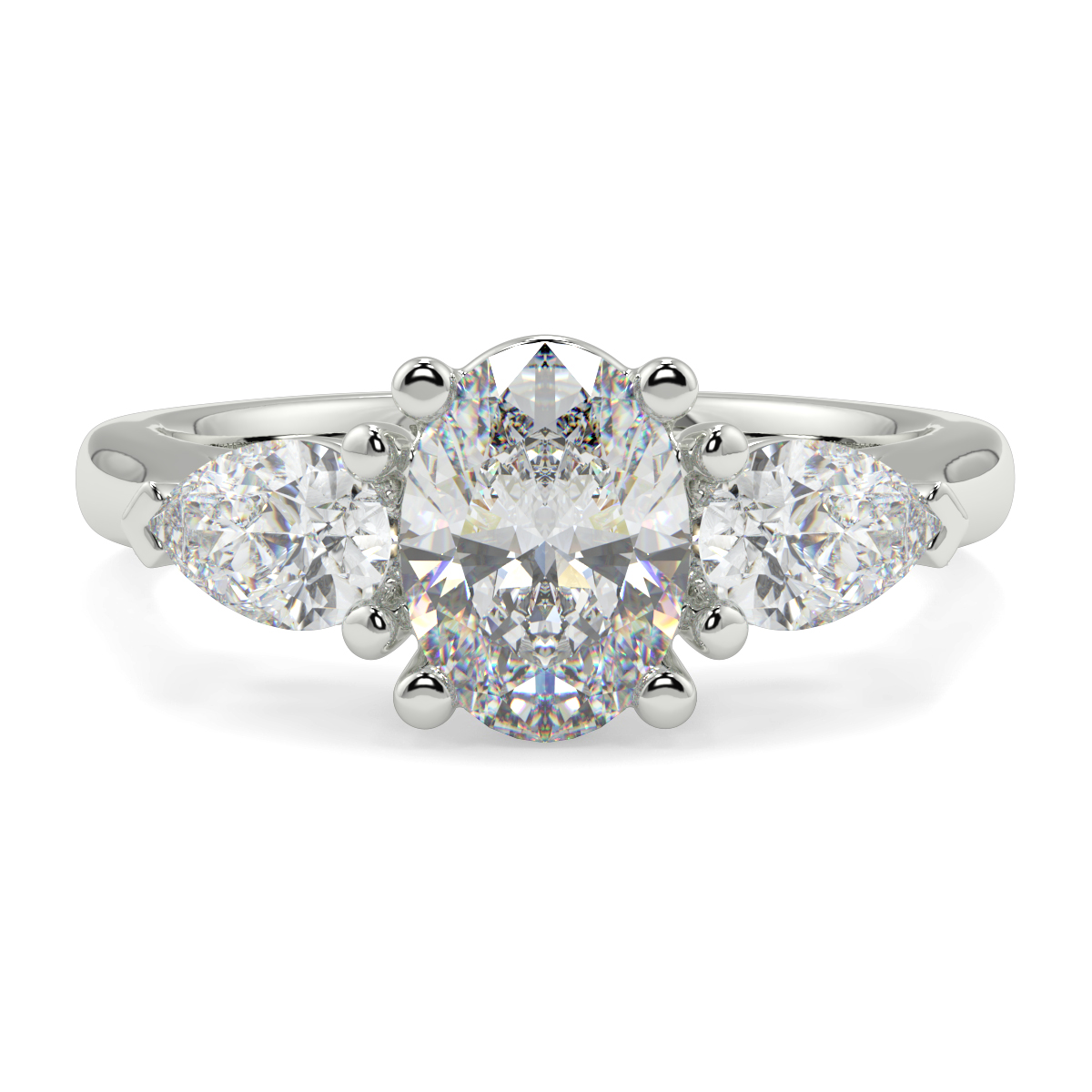 Oval With Pear Trilogy Ring